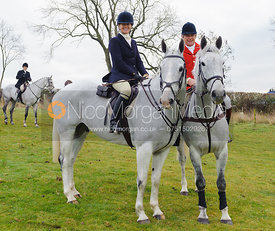 Kate Reardon and Charlie Gordon-Watson - The Cottesmore Hunt at Hill Top Farm 10/12/13