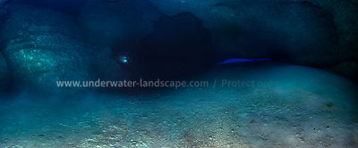 Panoramic view under the reef