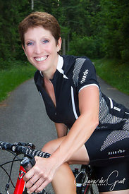 Lovely cycling sports portrait