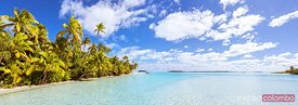 Panoramic of One Foot Island, Aitutaki, Cook Islands