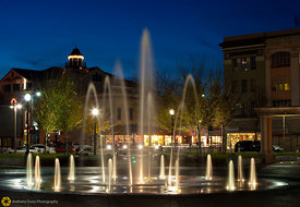 Downtown Chico Plaza at Night #2