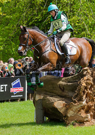 Sarah Ennis and SUGAR BROWN BABE - Cross Country phase, Mitsubishi Motors Badminton Horse Trials 2014