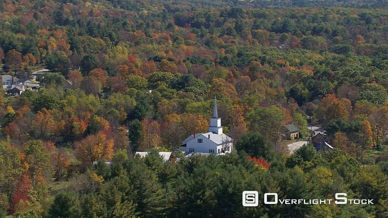 Orbiting rural New England church