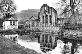 Vale Crucis Abbey & Fish Pond (Monochrome)