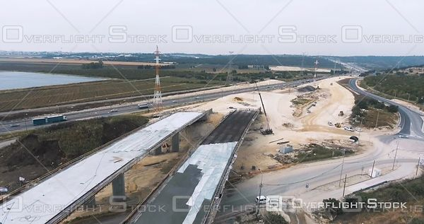 Highway Overpass Construction Project Israel