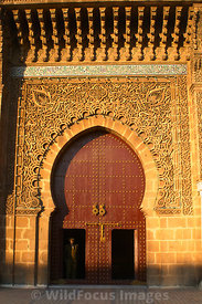 Entrance to the Mausoleum of Moulay Ismail, Meknes, Morocco; Portrait