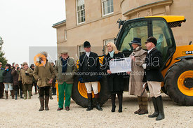Presentation of £1500 from the MSS Hunt Supporters to the NSPCC, Lady Bamford's (JCB) favourite charity.