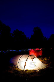 Tent and headlamp