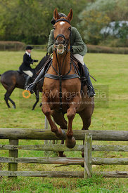 Sophie Walker jumping a hunt jump - The Cottesmore Hunt at Somerby, 2-11-13