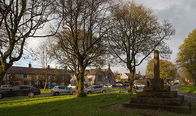 Litton village green and cross