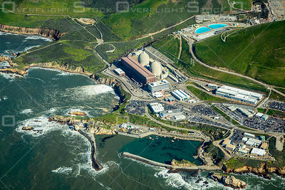 Soon to Be Decommissioned Diablo Canyon Nuclear Power Plant California