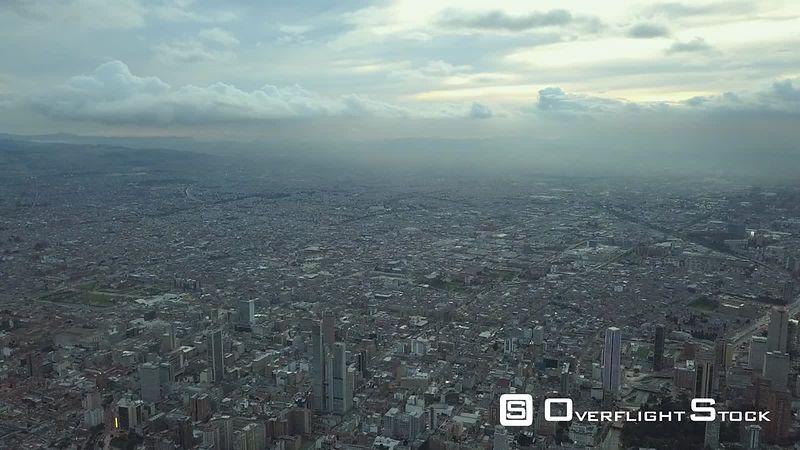 Drone Video Sprawling City of Bogota Colombia