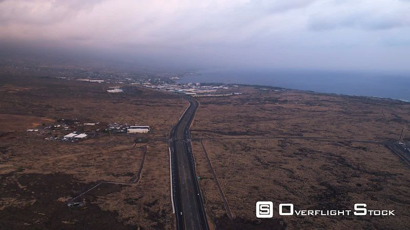 Approaching Kona Town, above highway.