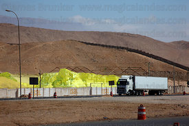 Sulphur storage depot on outskirts of Alto Hospicio , near Iquique , Region I , Chile