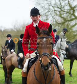 Robin Smith-Ryland at the meet - The Belvoir Hunt at Croxton Park 23/2
