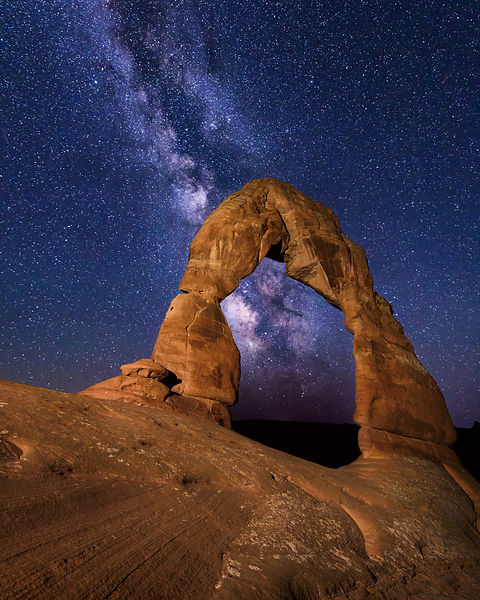 The Milky Way Through Delicate Arch