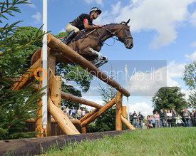 Andrew Nicholson and Calico Joe - cross country phase,  Land Rover Burghley Horse Trials, 7th September 2013.