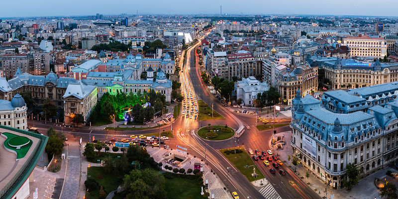 Elevated View of the Center of Bucharest