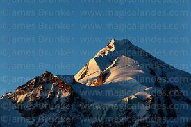 Mt Huayna Potosí south peak in the late afternoon, Cordillera Real, Bolivia