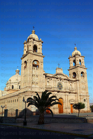 Facade of cathedral , Plaza de Armas , Tacna , Peru