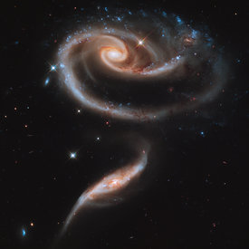 Galaxies de la Rose ARP 273
