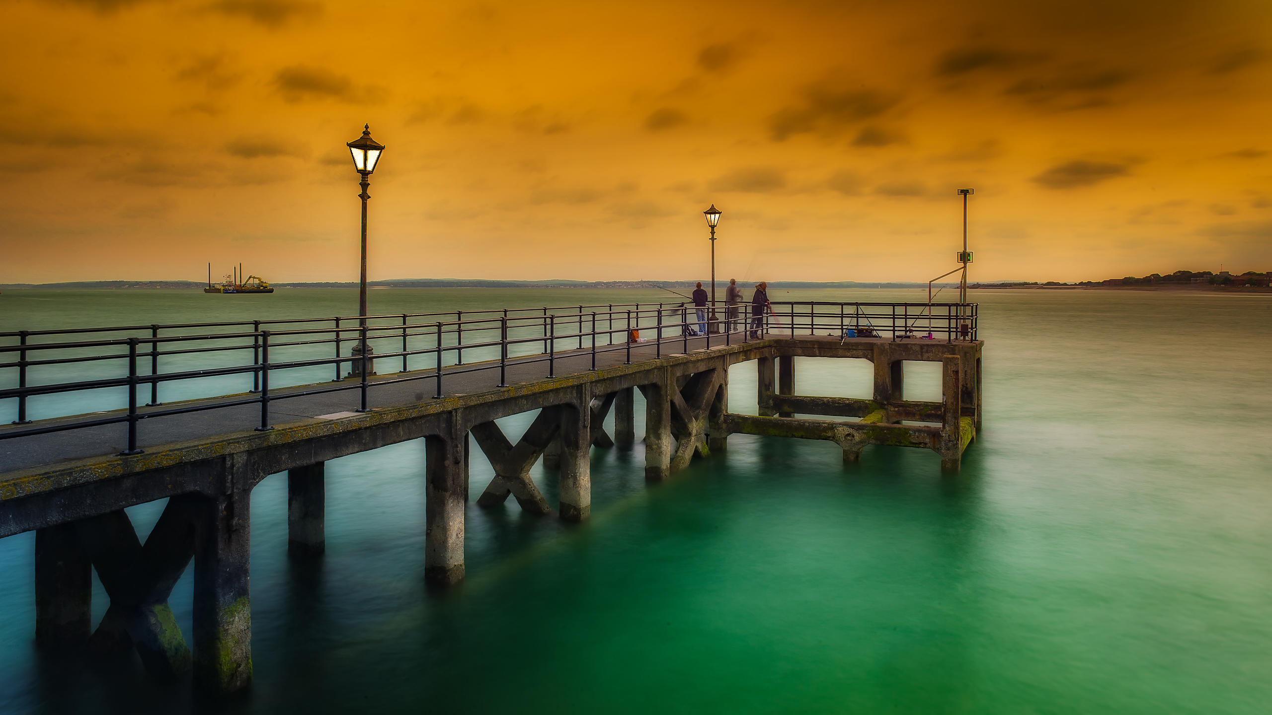 Powder Bridge at Sunset, in Portsmouth, England