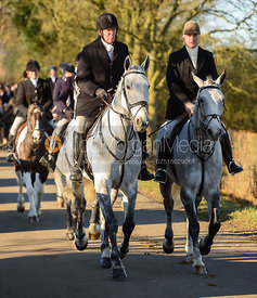 Nick Townsend and Nick Wright leaving the meet in Owston