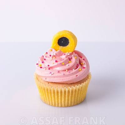 Cupcake with Liquorice Allsorts decoration