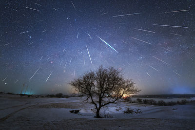 Geminid meteor shower over China