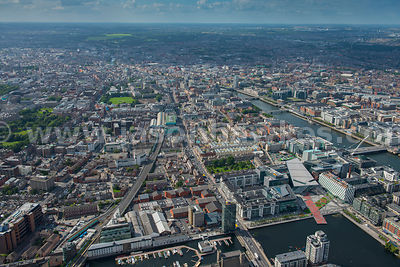 Aerial view of Grand Canal Dock, Ringsend, Dublin, Ireland