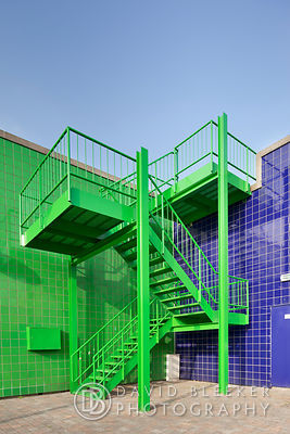 Green Steel Stairs
