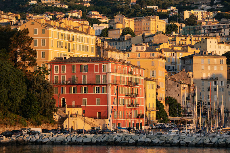 Buildings Surrounding the Yacht Basin at Bastia