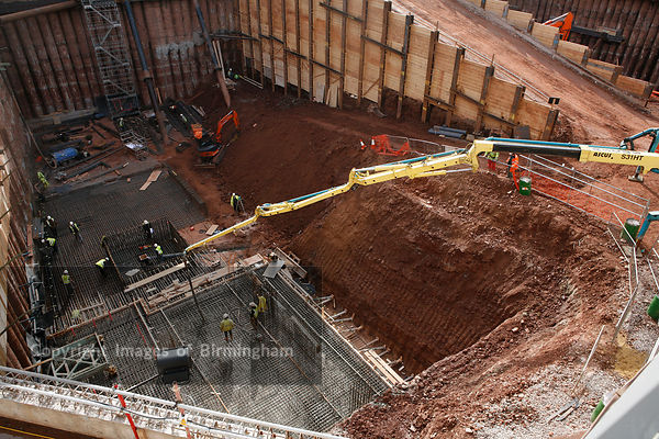 Construction of the Cube building in Birmingham, England, UK