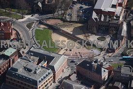 Chester aerial photograph of the Roman Amphitheatre