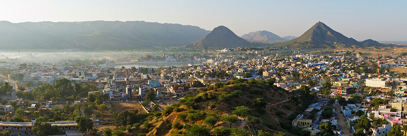 Elevated View of the City of Pushkar from the Temple of Gayitri