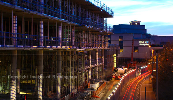The new Birmingham Library under construction in Centenary Square.