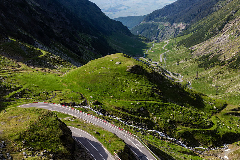 View Looking Down the Transfagarasan Highway into Transylvania