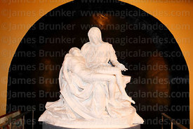 Authorised replica of Michelangelo's La Pieta in Town Hall , Lampa, Peru