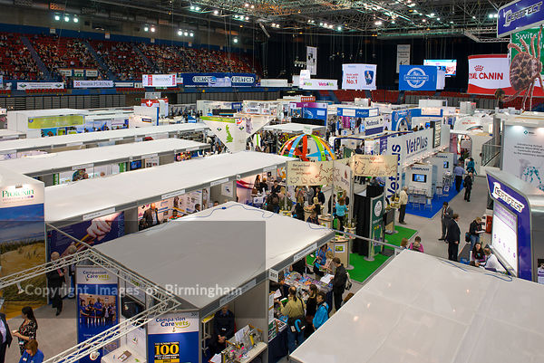 The National Indoor Arena (NIA) hosting an exhibition.