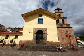 Main entrance facade of San Blas church, Cusco, Peru