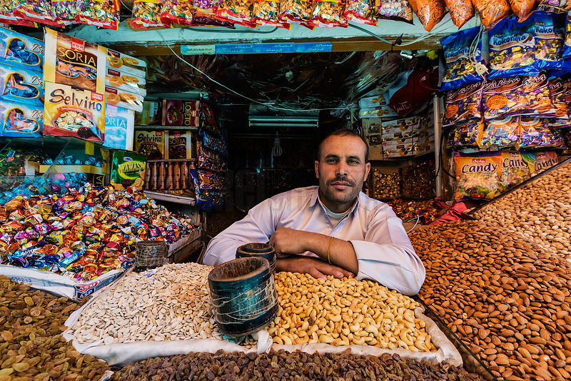 Portrait of a Vendor Selling Nuts and Sweets