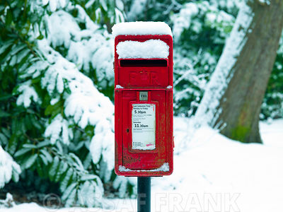 Post box in snow