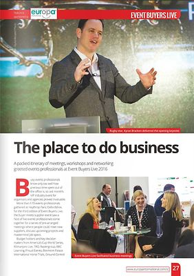 Stand Out magazine - Event Buyers Live 2016 - page 27 - April 2016
