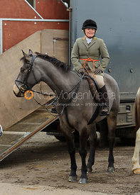 Sasha deG at the meet - The Cottesmore Hunt at Ranksboro, 26-11-13.