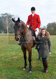 Nicholas Leeming MFH, Emma Leeming - The Cottesmore Hunt at Burrough House 17/12