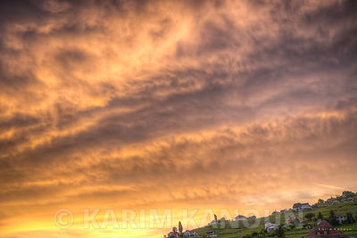 Dramtic sky during the golden hour - Lavaux