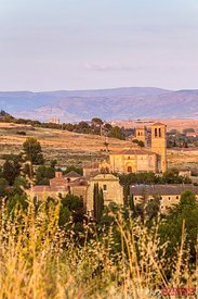 Monastery in a valley near Segovia, Spain