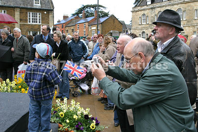 Crowds Watch the Unveiling of the Fine Lady Statue in Banbury