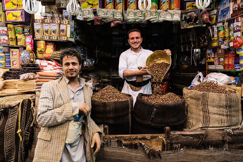 Market Stall in Old Sana'a