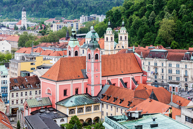 Elevated View of the Center of Ljubljana